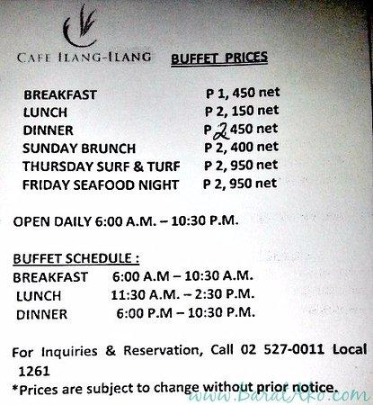 Admirable Price List Picture Of Cafe Ilang Ilang Manila Tripadvisor Download Free Architecture Designs Scobabritishbridgeorg