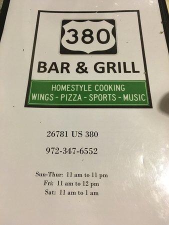 Aubrey, TX: 380 Bar & Grill