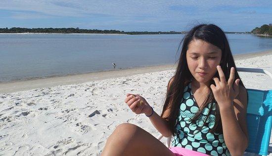 Fort Matanzas National Monument: White sandy beach
