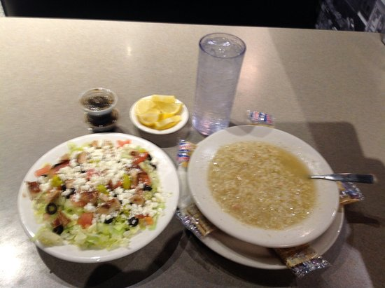 Chappy's Deli - Perry Hill: Athenian Chicken Salad and Chicken and Rice Soup