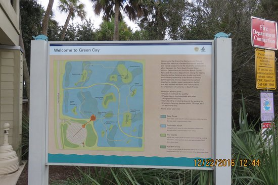 Green Cay Nature Center and Wetlands: sign on way in