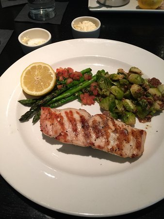Leawood, KS: Wahoo (Ono) Fish with Brussels and Asparagus