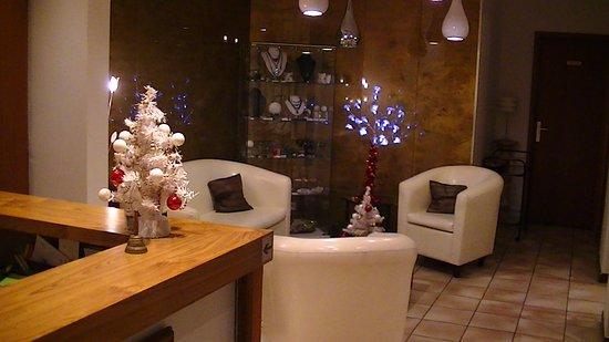 Palanbo Hotel: Incontournable salon ou Corinne se plaira à vous faire la conversation.