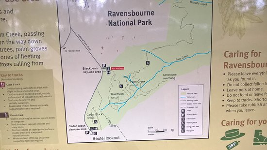 Part of the Ravensbourne National Park information board