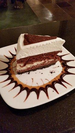Bigfork, MT: Triple chocolate cheesecake.