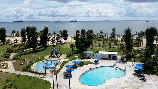 Fiesta Resort & Spa Saipan: Pools and Philippine Sea.