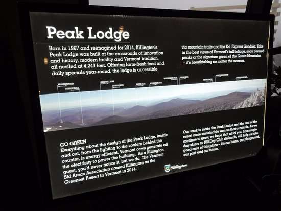Killington, VT: What you can see from Peak Lodge on a clear day