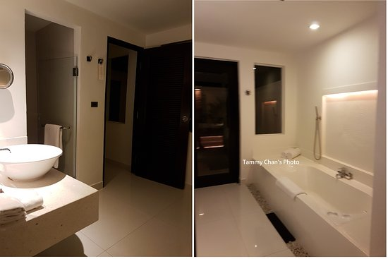 The Racha: Rain Shower In Open Top Area Behind This Bath Room