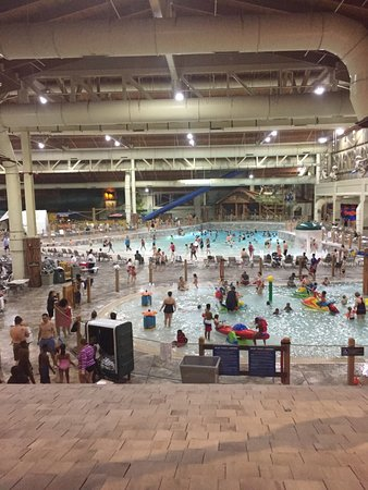 Concord, NC: View from second floor window into Great Wolf Lodge Waterpark