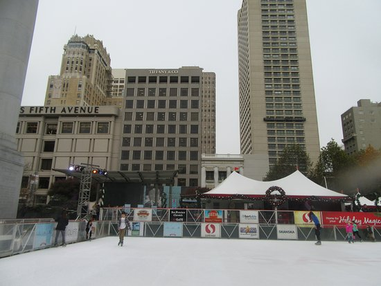 Holiday Ice Rink In Union Square