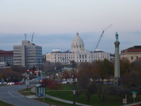 Saint Paul, MN: State Capitol from Cathedral Steps