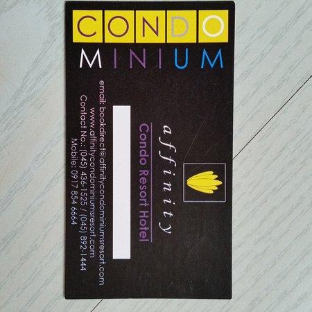 Affinity Condo Resort: Carte de l'hôtel : Affinity Luxury Condominium