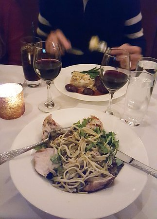 Halifax, VA: Chicken pasta and filet mignon