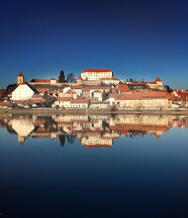 Ptuj old town reflection