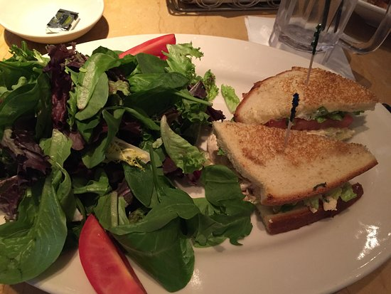 Lone Tree, CO: chicken salad sandwich and green salad