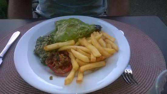 Entrechaux, Francia: Plat 2 (sauce au basilic : un délice!)