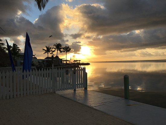 Drop Anchor Resort: sunrise from family area