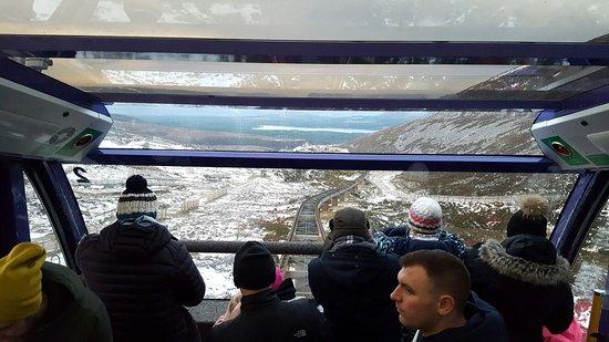 Aviemore, UK: In het treintje naar beneden.