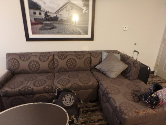 Franklin, MA: The L shaped couch with pull out bed