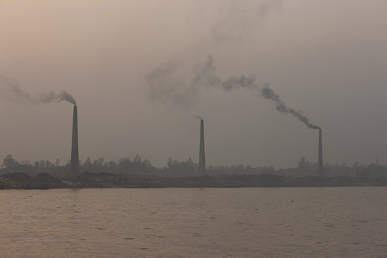 Sadarghat: Smoke of Brick fields