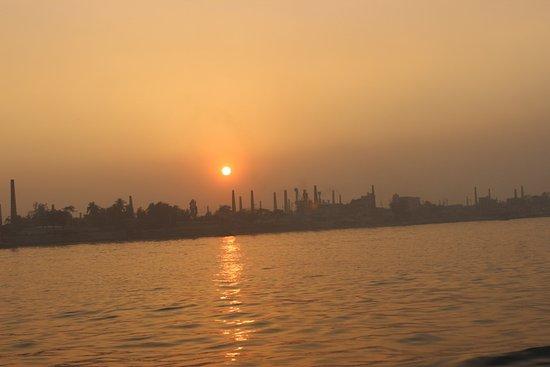Sadarghat: Sunset panorama from Buriganga
