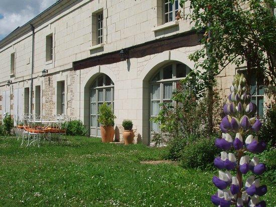 Le Coudray-Macouard, Frankrike: petit dejeuner dans le jardin