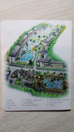 Khuk Khak, Thailand: Poolområdet grafiskt framstält på nyckelkortets hållare.
