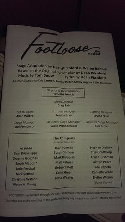 Footloose was a great production -- glad we made the effort to get over to Cambridge to see it!