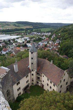 Krautheim, Niemcy: Blick vom Turm auf den bewohnten Teil