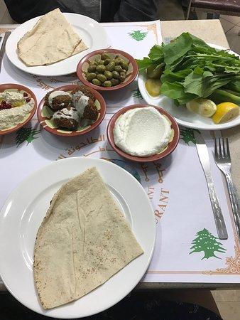 Gratis Beilagen Moutabel Und Falafel Picture Of Lebanese Mill