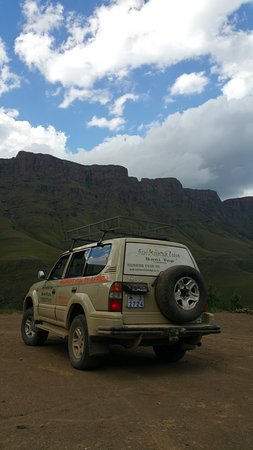 Sani Pass, Lesoto: Our shuttle ride