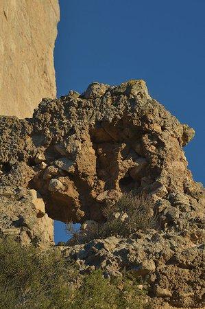 Miravet, Espagne : weathered rock