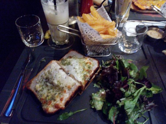 Croque monsieur vegan frite picture of au bureau fenouillet