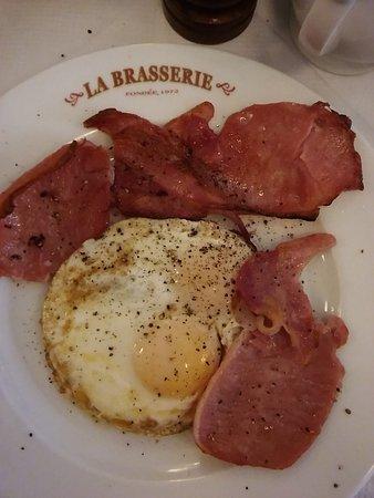 La Brasserie: Eggs and bacon