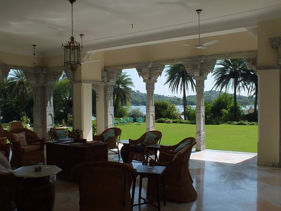 Lawn & lake from the verandah