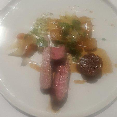 Veal fillet & confit main course at La Tour, Sancerre