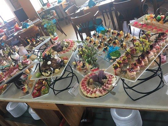 Nice view, perfect food