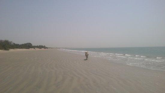 Jinack Island, Gambia: kilometers of natural beach