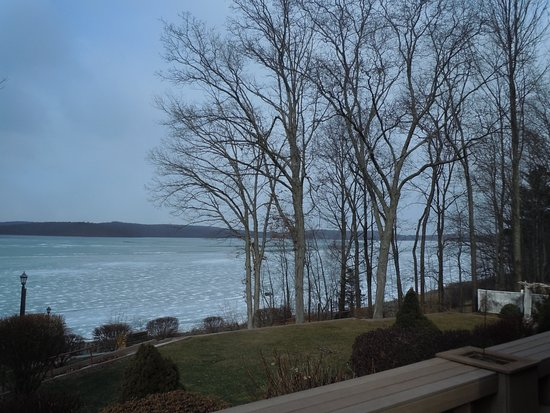 Hawley, Pensilvania: View of Lake Wallenpaupack from Silver Birches Resort/The Dock