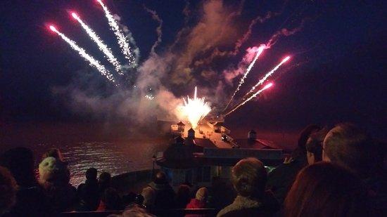 Cromer, UK : Pier fireworks 2017