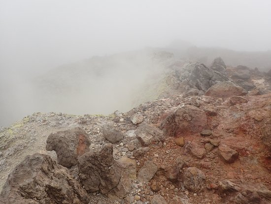 Trois Rivieres, Guadalupe: At the top of the volcano