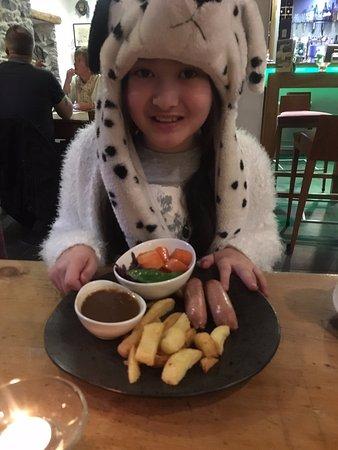 Brithdir, UK : kids meals nice