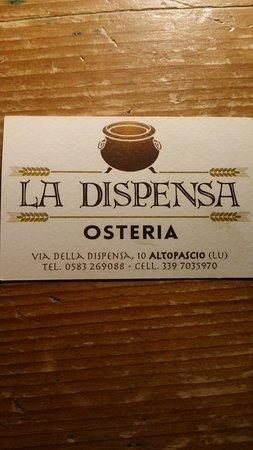Altopascio, Italien: biglietto da visita