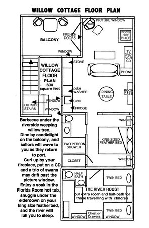 Duck Inn: Willow Cottage Floor Plan