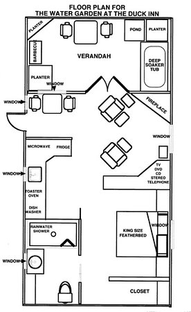 Duck Inn: Water Garden Floor Plan