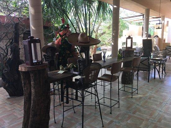 Hacienda Hotel Santo Domingo: Espace pour le repas du soir