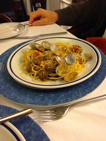 Luca: spaghetti con le vongole