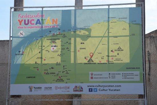 Carte Yucatan Quintana Roo.Carte Du Yucatan Mexique Picture Of Adventure Tours
