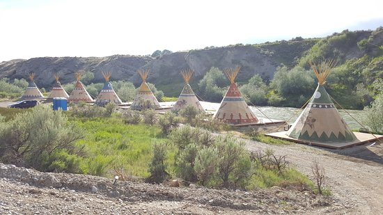 Cody, WY: Glamping in teepees on the Shoshone River.