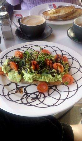 Seaford, Australia: Smashed avocado
